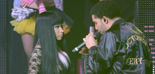 Nicki Minaj and Drake perform on stage