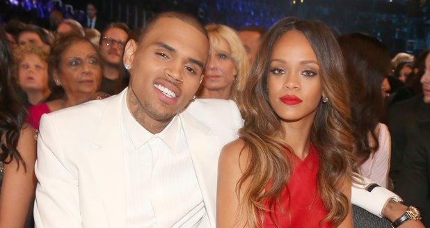 Rihanna and Chris Brown at the Grammy Awards 2013