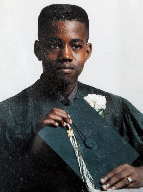 Kanye West school picture before he was famous