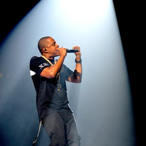 Jay Z performs on is tour