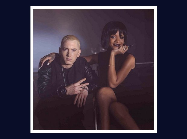 Eminem and Rihanna on The Monster video set