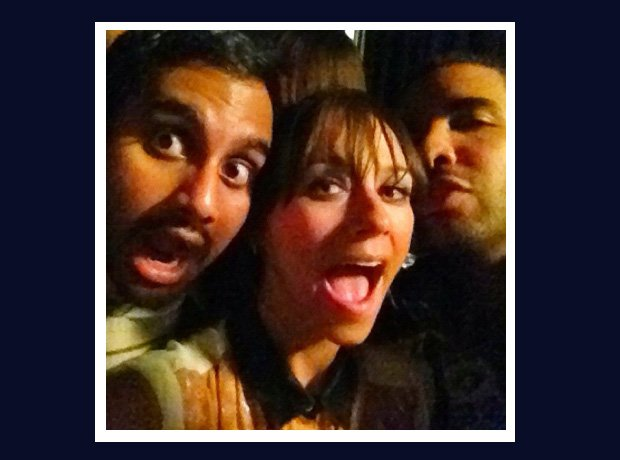 Drake selfie with Aziz Ansari and Rashida Jones