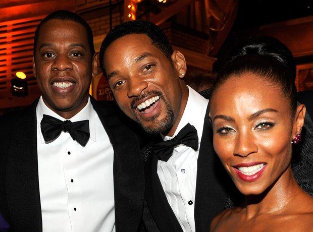 Jay Z, Will Smith and Jada Pinkett Smith