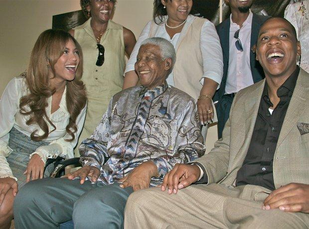 Nelson Mandela Beyonce Jay Z