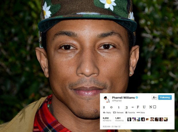 Pharrell Williams Best Tweets 2013