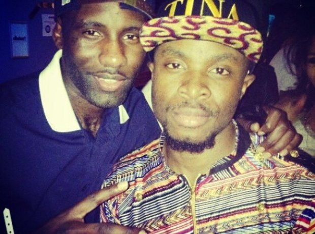 Fuse ODG and Wretch 32 partying.