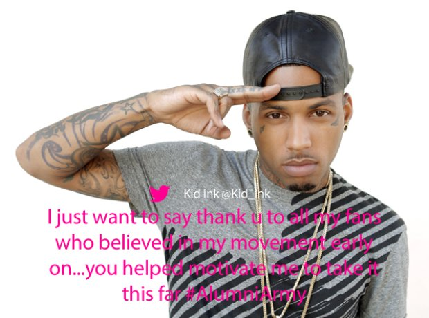 Kid Ink thanks to fans Twitter