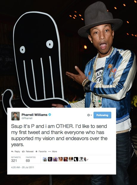 Pharrell first tweet