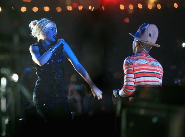 Pharrell Gwen Stefani Coachella 2014