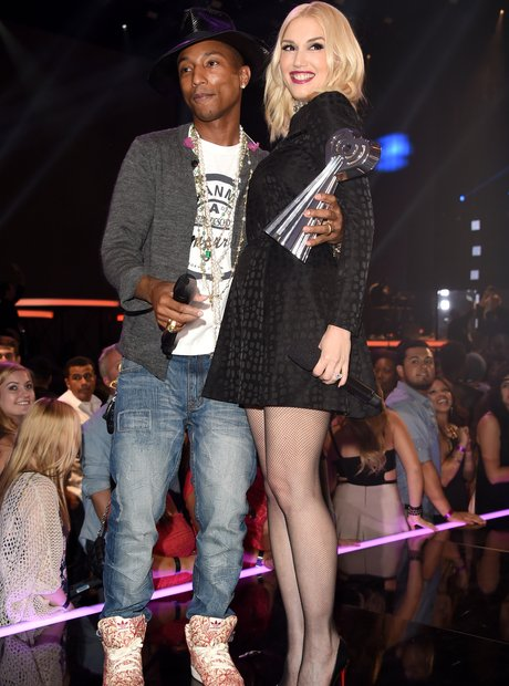Pharrell Williams and Gwen Stefani at iHeartRadio