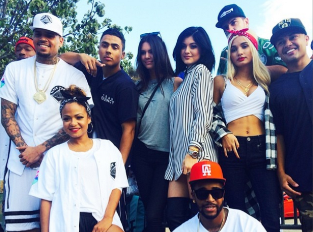 Chris Brown celebrity kickball game