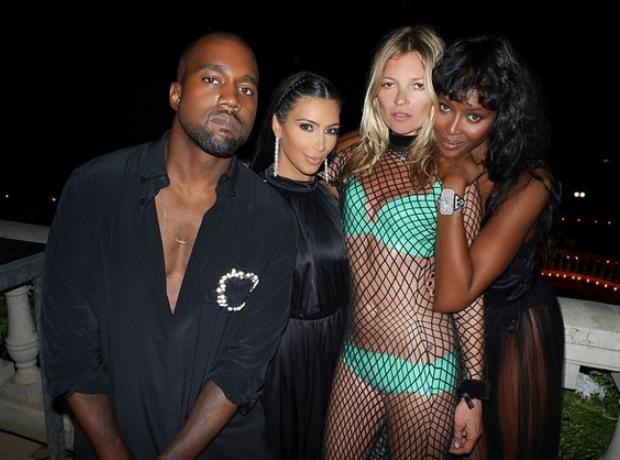 Kanye West Kim Kardashian Kate Moss Naomi Campbell
