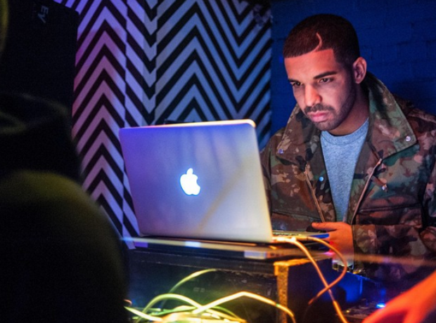 Drake on laptop