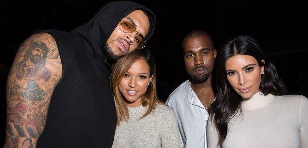 Chris Brown, Karrueche Tran Kanye West and  Kim Ka
