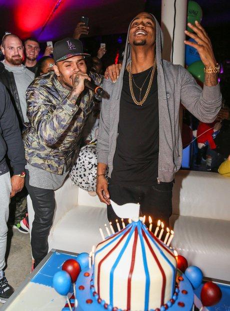 Chris Brown Celebrates Trey Songz 30th Birthday