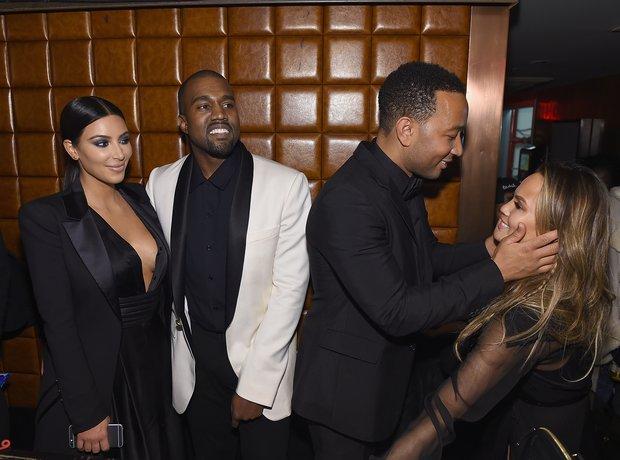Kanye West Kim Kardashian John Legend and Chrissy