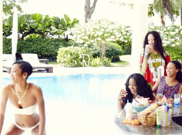 Rihanna and Melissa Ford