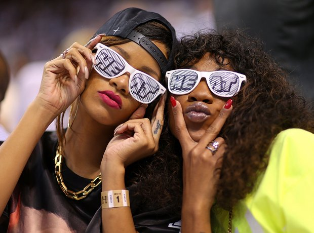 Rihanna and Melissa Ford