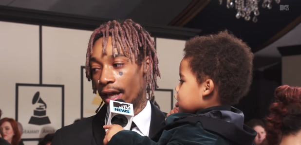 Wiz Khalifa and son Bash at 2015 Grammys