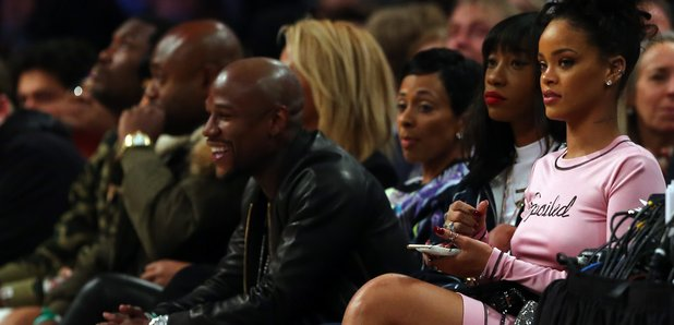 Rihanna attends the 2015 NBA All-Star Game