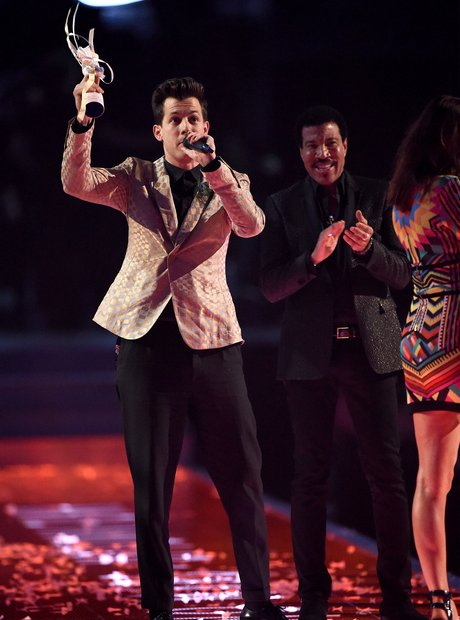Mark Ronson BRIT Awards 2015 On Stage