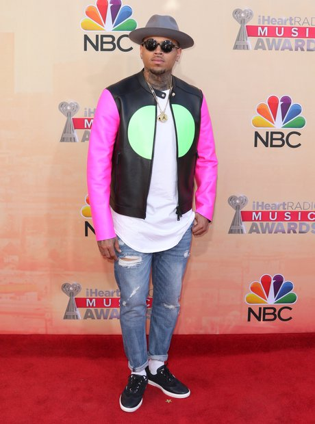 Chris Brown  iHeartRadio Awards Red Carpet 2015