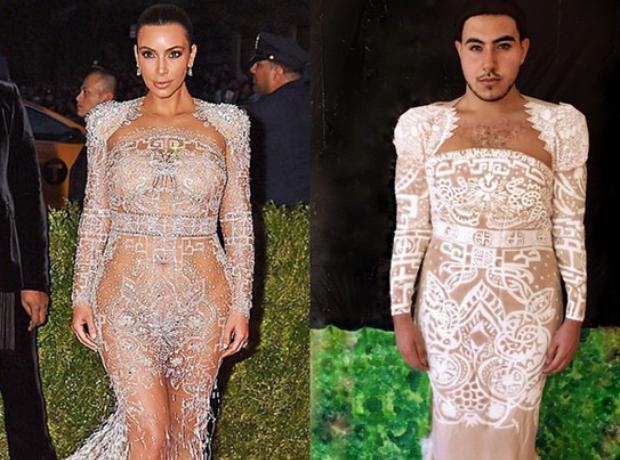 Mina Gerges Kim Kardashian Met Gala look