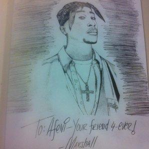 Tupac sketch by Eminem