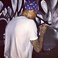 Image 6: Chris Brown painting a new piece of art