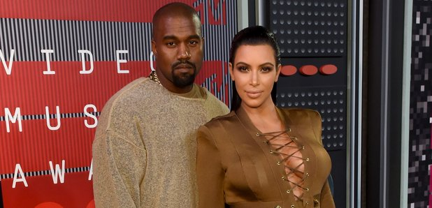 Kanye West and Kim Kardashian MTV VMAs 2015