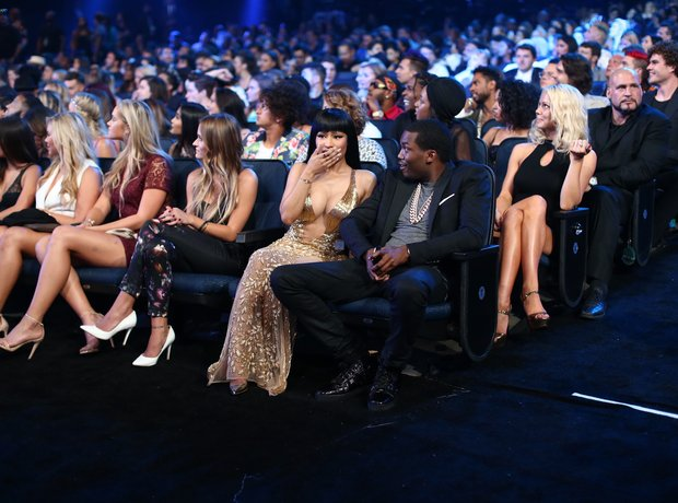 Nicki Minaj and Meek Mill MTV VMAS'S 2015