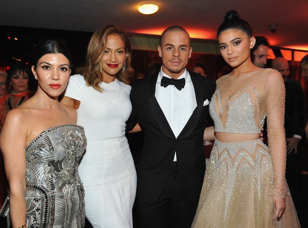 Kourtney Kardashian, Jennifer Lopez, Casper Smart