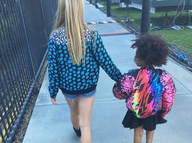 Gwyneth Paltrow takes Apple and Blue-Ivy to Super