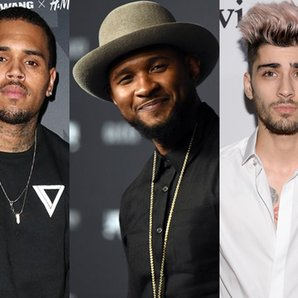 Chris Brown Usher Zayn Malik