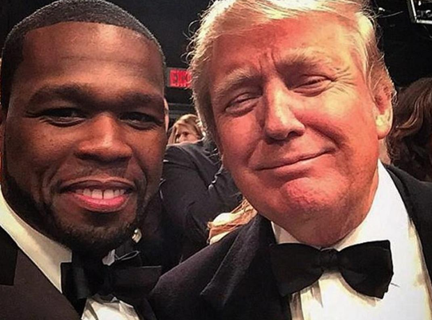 50 cent and Donald Trump