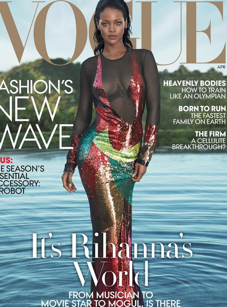 Rihanna on the cover of Vogue USA