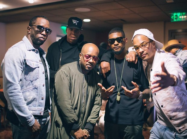 Diddy, Usher, Jay Z, Jermaine Dupri and TI