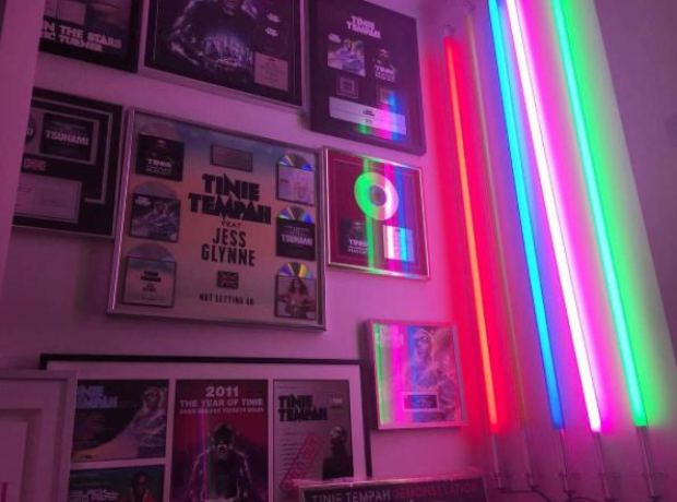 Tinie Tempah Plaques on wall