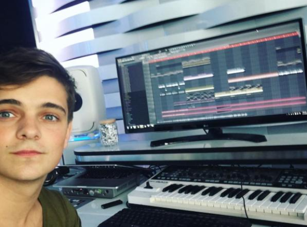 Martin Garrix in the studio