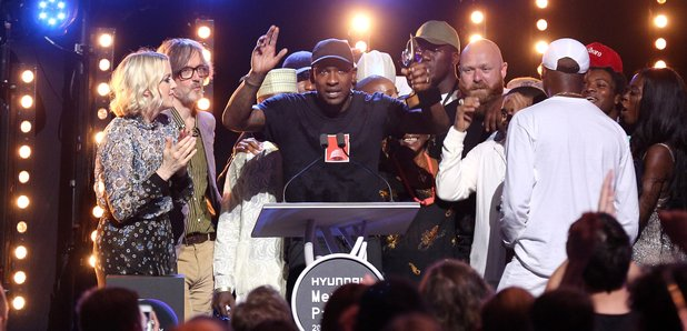 Skepta Mercury Prize Award on stage