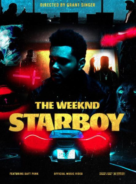 The Weeknd Starboy poster