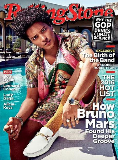 Bruno Mars Rolling Stone Cover