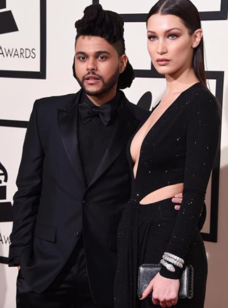 The Weeknd and Bella Hadid Grammys 2016