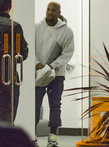 Kanye West dons remarkably laid-back look for late