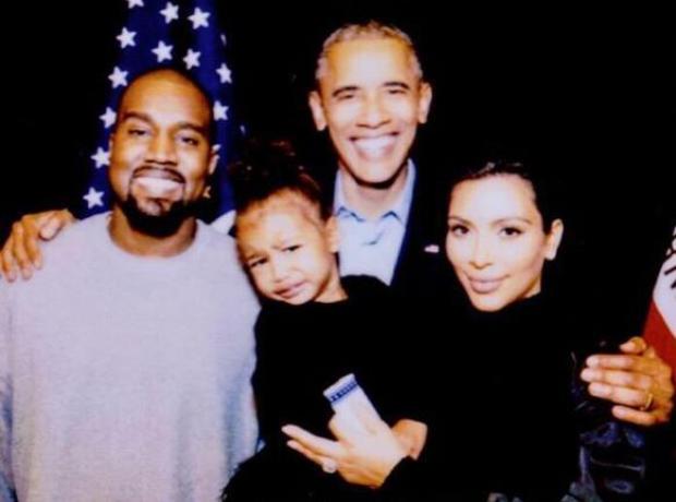 Kanye West Kim Kardashian North West Obama