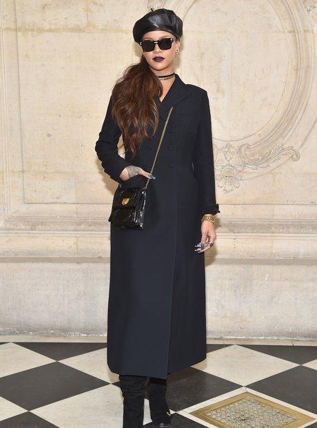 Rihanna attends Christian Dior Paris Fashion Week