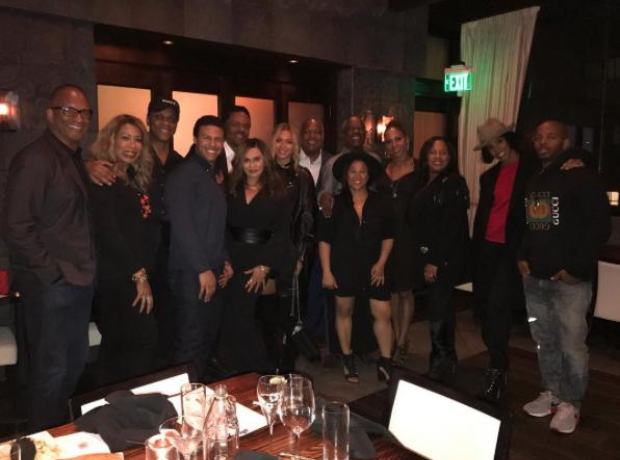 Beyonce and Tina Knowles attend a family dinner