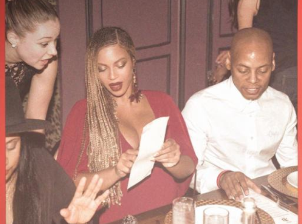 Beyonce menu meme
