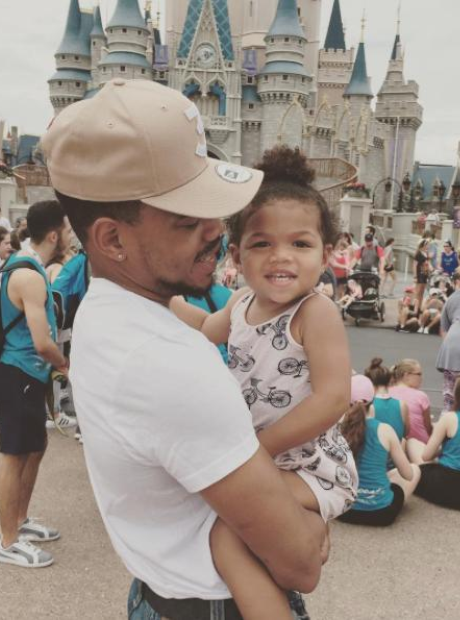 Chance The Rapper and his daughter Kensli